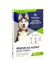 Капли на холку Ultra  Protect от блох и клещей для собак весом 10-25 кг