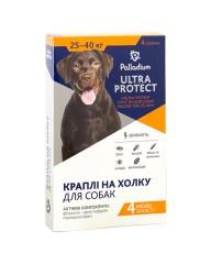 Капли на холку Ultra  Protect от блох и клещей для собак весом 25-40 кг