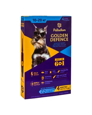 Palladium_Golden Defence_spot-on_dog_10-20 kg_box