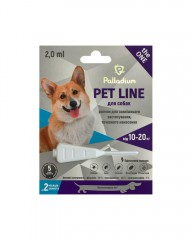 Капли на холку от блох, клещей и гельминтов Pet Line the ONE для собак весом 10-20 кг