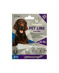 Капли на холку от блох, клещей и гельминтов Pet Line the ONE для собак весом 20-30 кг