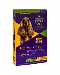 Капли на холку от блох, клещей и гельминтов Extra Safe для собак весом 4-10 кг