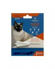 Palladium Капли на холку от блох и клещей Massive Action для кошек весом 1,5-4 кг