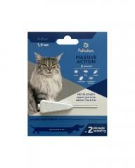 Palladium Капли на холку от блох и клещей Massive Action для кошек весом 4-8 кг