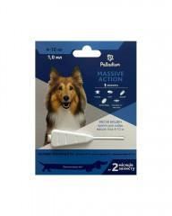Капли на холку от блох и клещей Massive Action для собак весом 4-10 кг