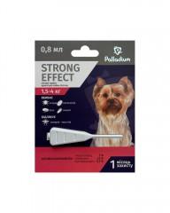 Капли на холку от блох, клещей и комаров Strong Effect для собак весом 1,5-4 кг