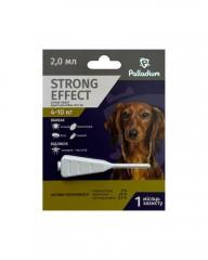 Капли на холку от блох, клещей и комаров Strong Effect для собак весом 4-10 кг