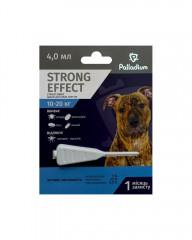 Капли на холку от блох, клещей и комаров Strong Effect для собак весом 10-20 кг
