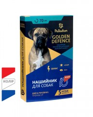 Ошейник Golden Defence от блох и клещей для собак (70 см)