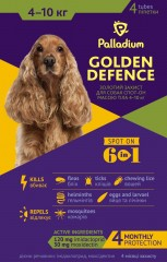 Spot on Golden Defence dog 4-10 kg front