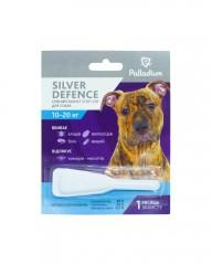 Капли на холку Silver Defence от блох, клещей и комаров для собак весом 10-20 кг