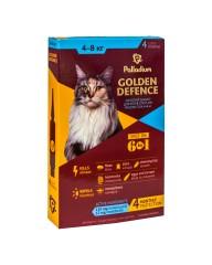 Капли на холку Golden Defence от паразитов для кошек весом от 4 до 8 кг