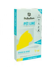 Капли на холку Pet Line №2 от блох и клещей для кошек весом более 1 кг