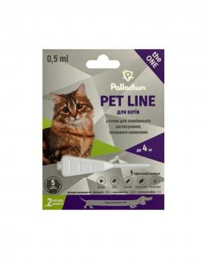Капли на холку Palladium Pet Line the ONE для кошек весом до 4 к