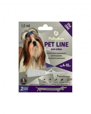 Капли на холку Palladium Pet Line the ONE для собак весом 4-10 к