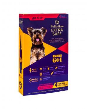 Капли на холку Palladium Extra Safe для собак до 4 кг