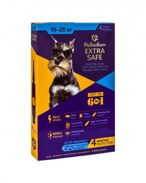 Капли на холку Palladium Extra Safe для собак весом 10-20 кг