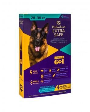 Капли на холку Palladium Extra Safe для собак весом 20-30 кг