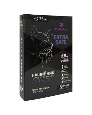 Ошейник от блох и клещей Palladium Extra Safe для кошек