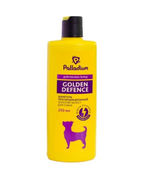 Palladium_Golden Defence_Shampoo_small dog_front