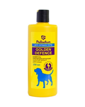 Palladium_Golden Defence_Shampoo_medium dog_front