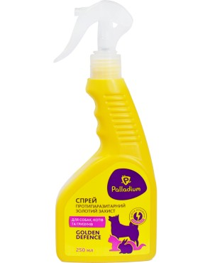 Spray Palladium Golden Defence cat dog rodent 250 ml front