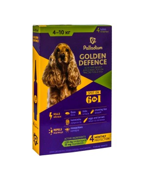 Palladium_Golden Defence_spot-on_dog_4-10 kg_box