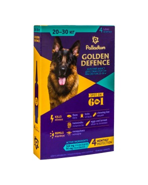 Palladium_Golden Defence_spot-on_dog_20-30 kg_box