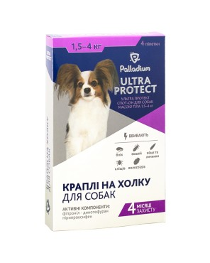 Palladium Ultra Protect spot-on dog 4 kg
