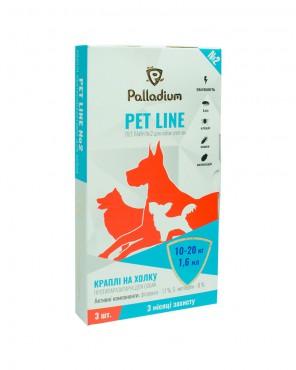 Капли на холку Pet Line №2 от блох и клещей для собак 10-20 кг