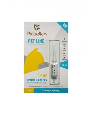 Капли на холку Pet Line №2 от блох и клещей для кошек 1+ кг